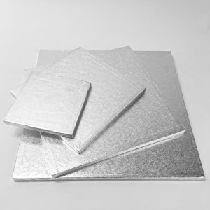 0.5″ Square Cake Drum Silver (5 Pack)