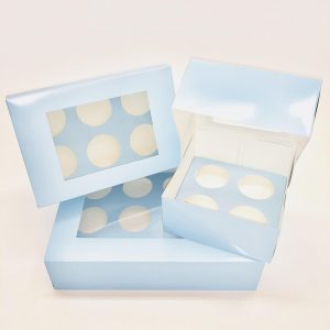 Baby Blue Cupcake Box (25 Pack)