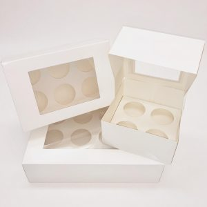 White Cupcake Box (25 Pack)
