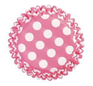 Cerise Dot Cupcake Cases (54 packs)