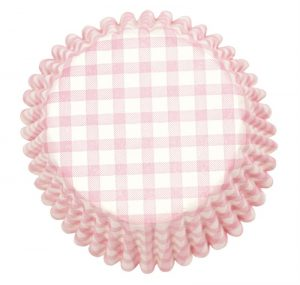 Pink Gingham Cupcake Cases (54 packs)