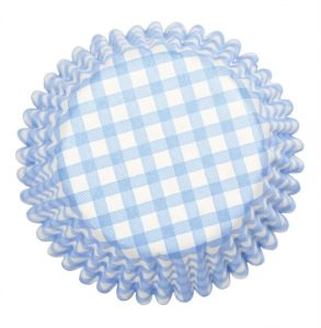 Blue Gingham Cupcake Cases (54 packs)