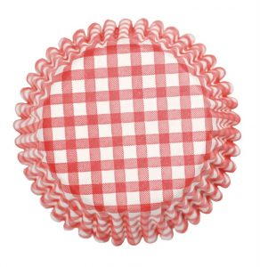 Red Gingham Cupcake Cases (54 packs)
