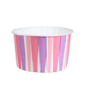 Pink Stripe Baking Cups (24 packs)