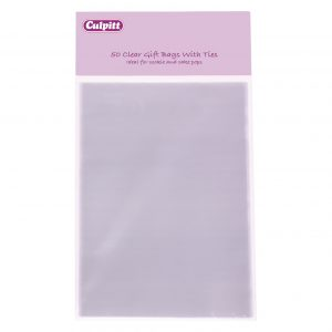 Medium Clear Gift bags with Ties 50 Piece